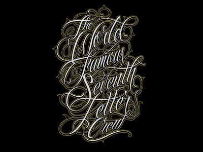 The World Famous Seventh Letter by Catrin Valadez Dribbble