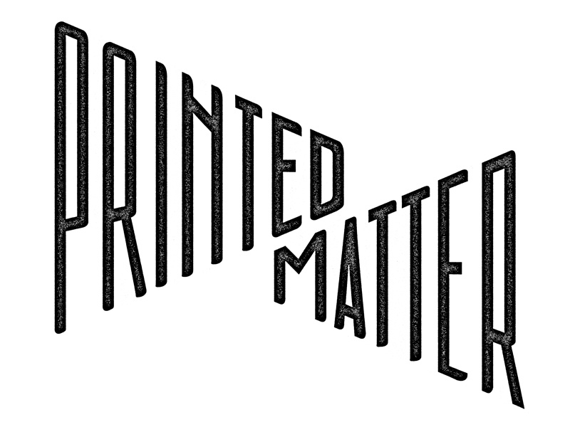 Printed Matter typography texture white black matter print