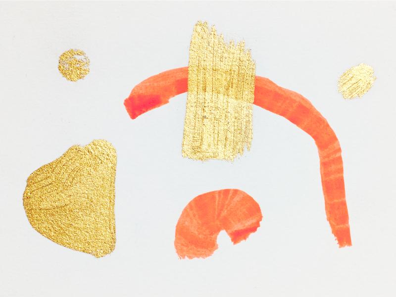 Shapes paint illustration shape pink gold