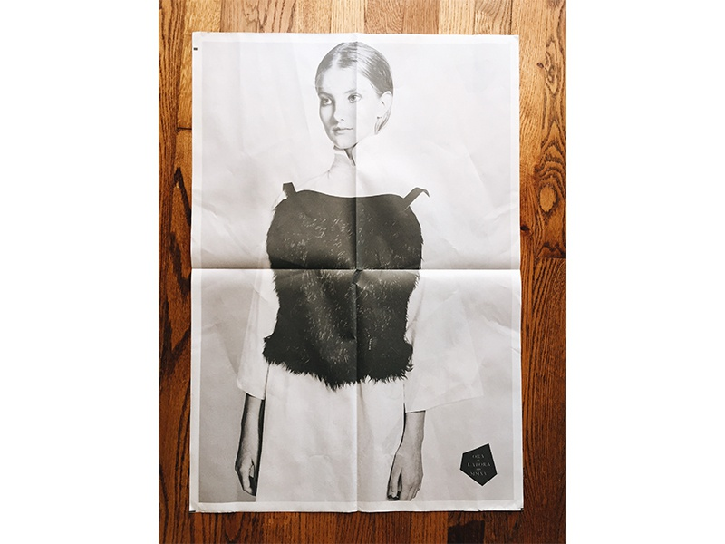 Oetl Newsprint white black editorial fashion newsprint