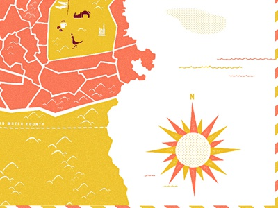 Sf Map 2 map pink orange yellow mustard sf icon