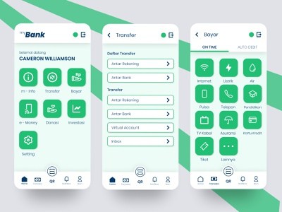 Mobile Banking App clean ui modern simple user interface design design app flat ux ui