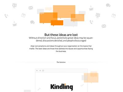 Narrative and artwork concepts orange conversations home page