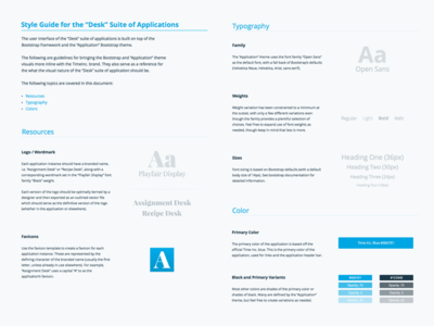 Application Style Guide