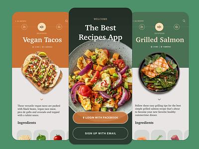 Recipes APP movil photo drink food app iphonex iphone web uidesign color flat recipes food ux ui design mobile app