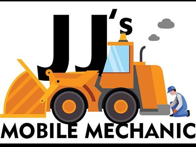 JJs Mobile Mechanic plant machinery machinery yellow mechanic startup corporate id corporate design design logo
