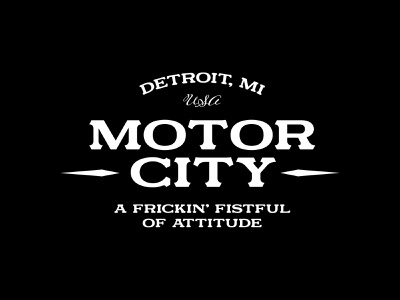 Motor City branding typography design