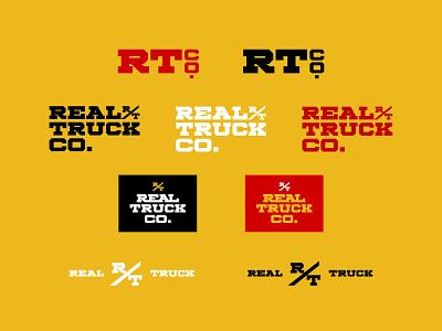 Real Truck Logo wordmark logo branding typography design