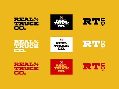 Real Truck Logo wordmark type design type logo branding typography design