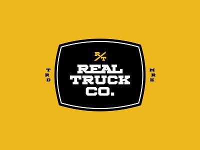 Real Truck Logo type design wordmark logo branding typography design