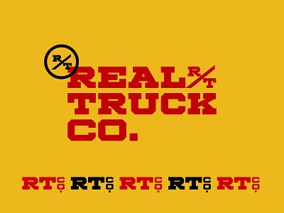 Real Truck Logo vector wordmark logo branding typography design