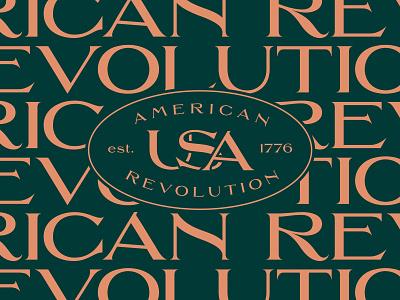 American Revolution branding typography design