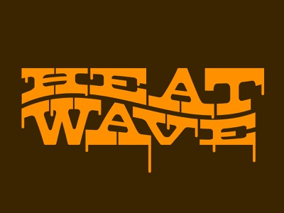 Heat Wave wordmark type typography design