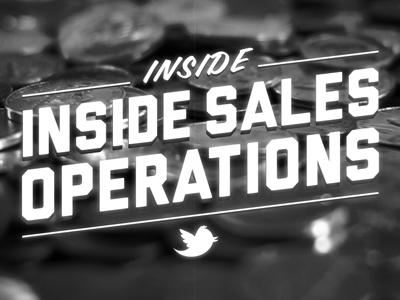 Inside sales ops