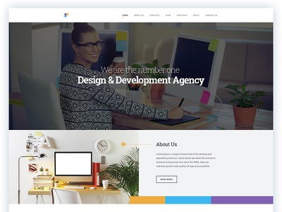 Design agency minimal ux ui web fun fact team about us service testimonial agency design