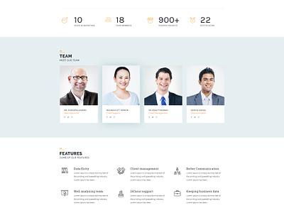 Bplus : Business Free PSD button team testimonial mockup theme business free psd freebie ux ui