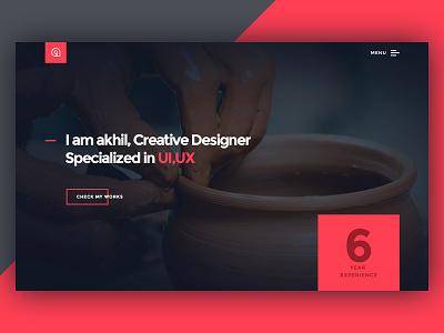 Portfolio : Redesign wp website clean re-design designer ux ui responsive design freelancer portfolio