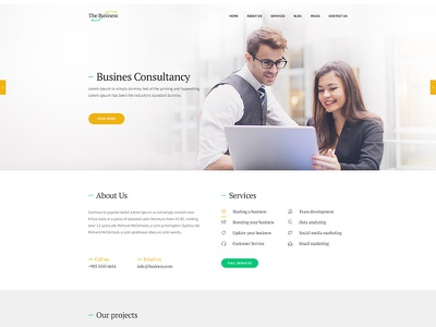 The Business psd freelancer multipurpose minimal creative consultancy business blog agency ux ui form