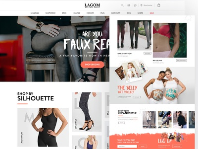 Lagom boutique home projects headier sign up footer typo clean ux ui ecommerce psd boutique