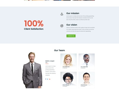 Free PSD : Business Templates  ux ui theme testimonial team mockup free psd freebie testimonials business