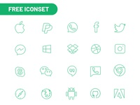 Social media and Brand icons Freebie