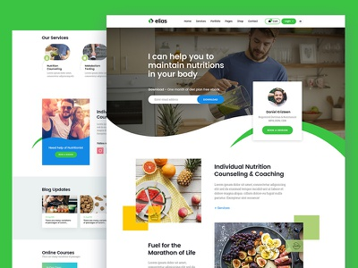 Health Coach form look and feel blog food health care health app health coach portfolio color web typo clean design business psd freebie ui