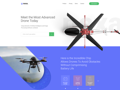 Drone_Homepage Design testimonial icons psd business agency flat blog minimal portfolio color freebie freelancer web clean typo homepage home page design drone ux ui