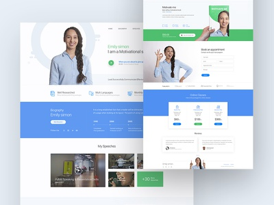 motivation speaker clean color psd blog homepage testimonial pricing web freelancer theme business ux minimal ui book speaker motivation speaker