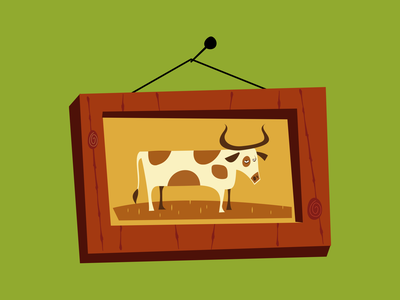 cow frame illustrator ai