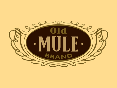 Old Mule Brand logo illustrator