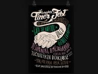 Typographic Tinerfest poster