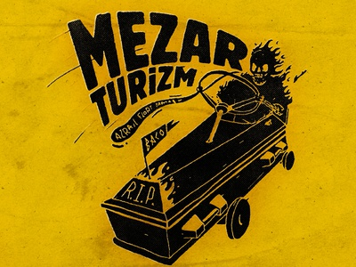 Mezar Turizm Cover&Tee Design rip music textile design typography baco illustration