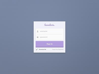Sign In Widget (Free PSD) sign in free psd flat purple web website widget download