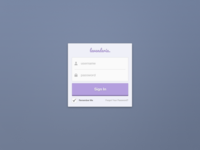 Sign In Widget (Free PSD)