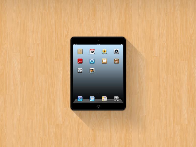 iPad Mini Mockup (Free PSD) ipad mini mockup free psd
