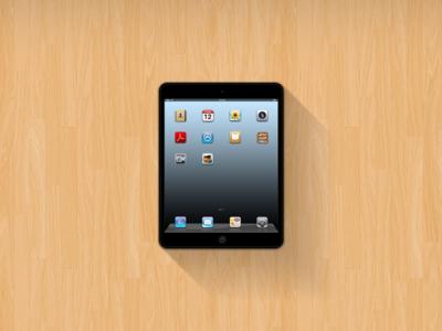 iPad Mini Mockup (Free PSD)