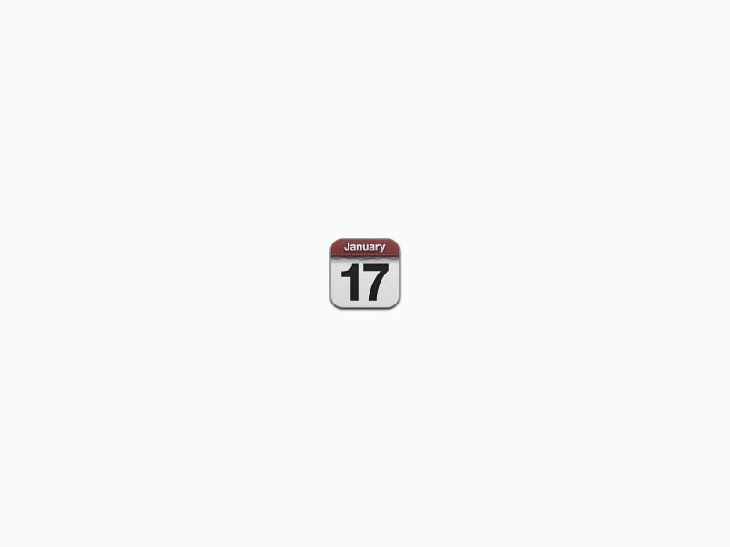 Very tiny ios calendar icon   byjad