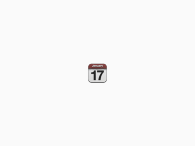 Itty Bitty iOS Calendar Icon