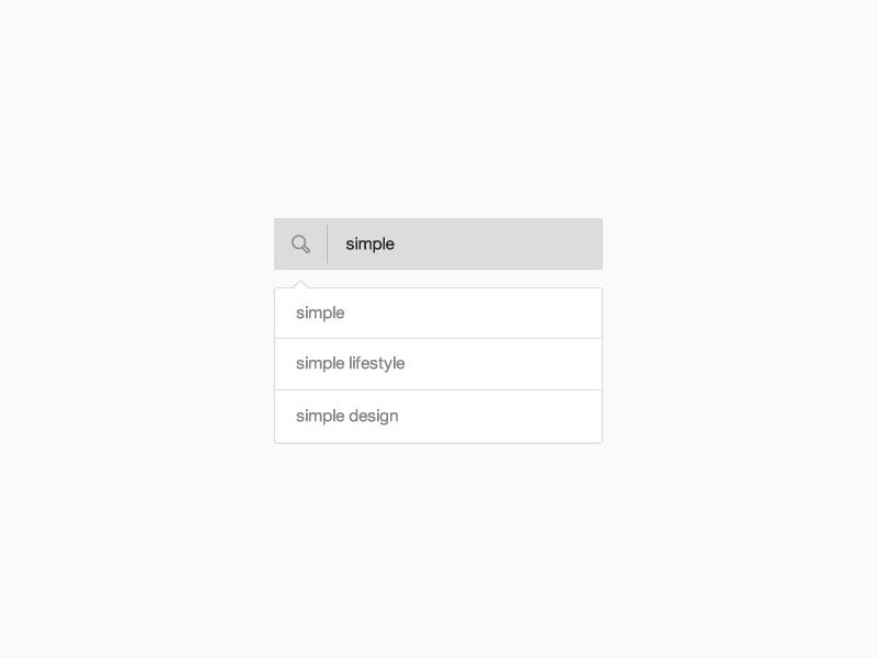Simple search bar   byjad