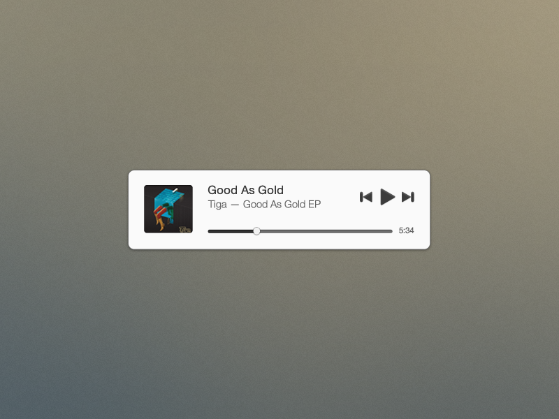 Mini Music Widget (Free PSD) free freebie psd mini music player widget tiga