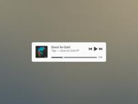Mini Music Widget (Free PSD)