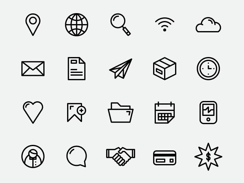 simplicons  free download  by joshua a  davies on dribbble