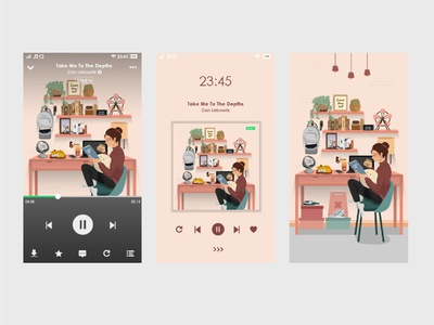 UI Design by JOOX Cover Music Ilustration Character graphic design art illustrator animation flat app vector ui illustration design