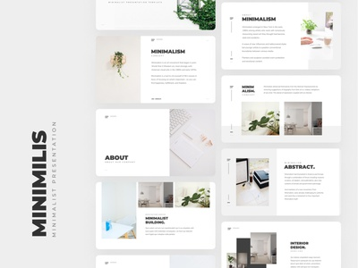 Minimilis - Minimalist Business Presentation Template simplicity simple minimalist business layout pitch deck google slides keynote powerpoint presentation layout presentation design presentation