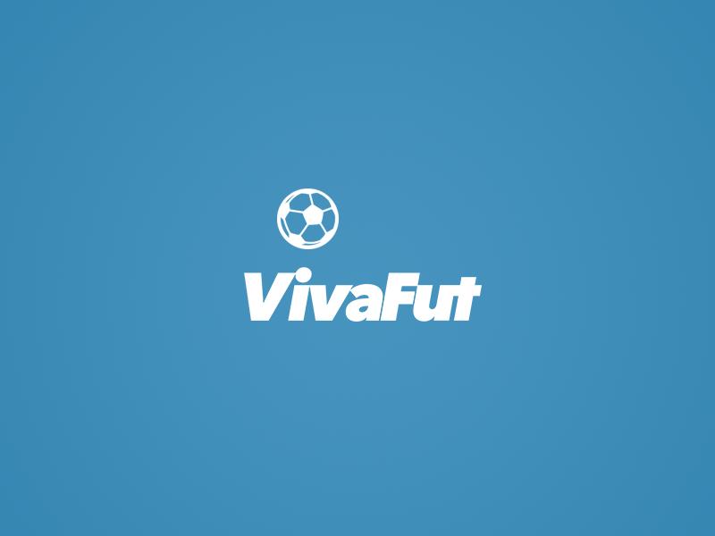 VivaFut logo minimalist minimal mono clean soccer football blue logo vivafut