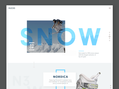 Featured items page (wip) button editorial mountain blue shop gear snow