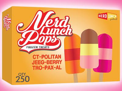 Nerd Lunch Pops Frozen Treats nerd lunch food popsicle podcast illustrator simple art