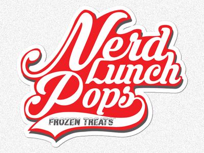Nerd Lunch Pops Frozen Treats Logo nerd lunch logo