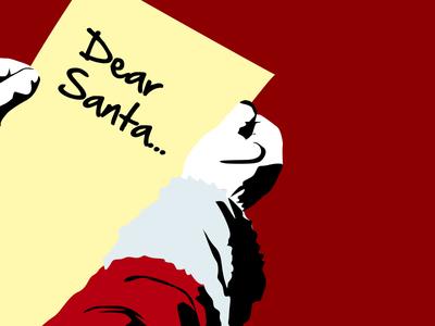 Dear Santa fccu christmas illustrator illustration