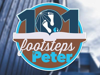 101 Footsteps of Peter Logo logo illustrator